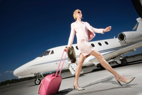 Businesswoman From Private Jet
